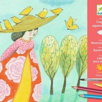 Atelier Creativ pentru Creioane si Acuarela Djeco, Echappees Belles