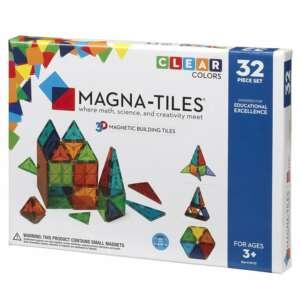 Magna-Tiles Clear Colors Joc Magnetic (32 Piese)