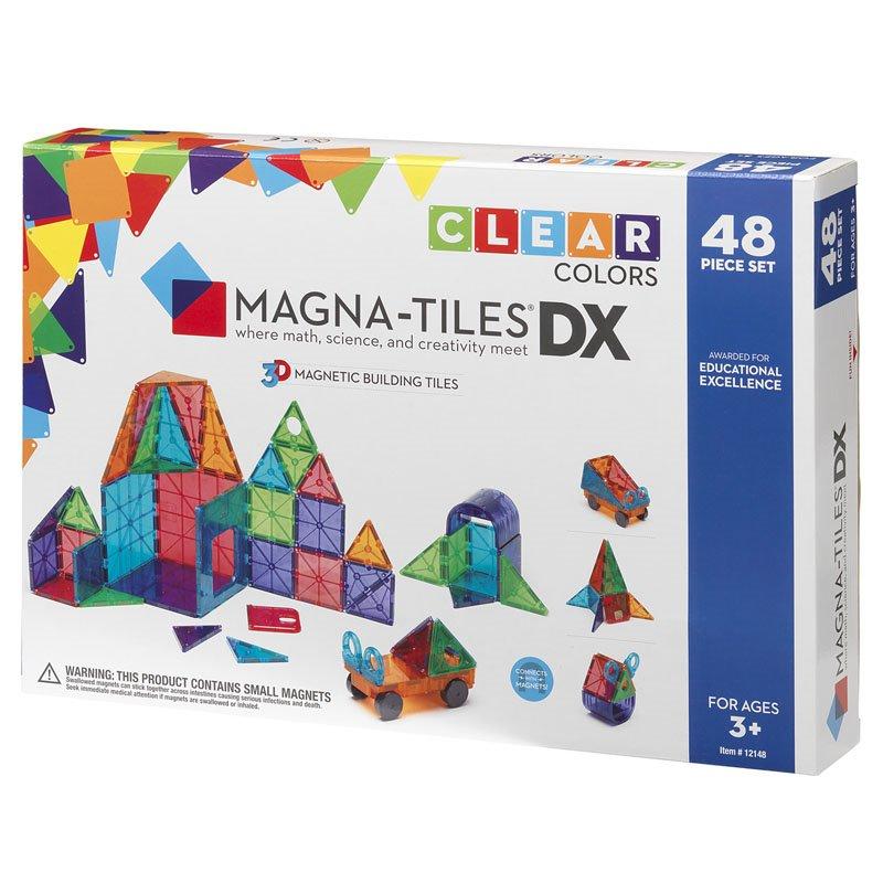 Joc Magnetic, Magna-Tiles Clear Colors, 48 Piese