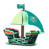 Corabia piratilor 3D de construit Djeco