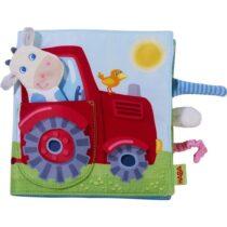 Cărticică textilă - jucărie bebeluși, La Fermă, Haba