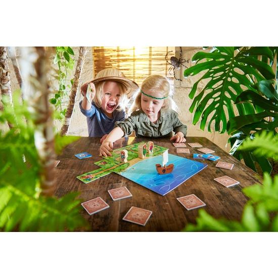 Copii jucand Joc de societate, Karuba Junior, Haba