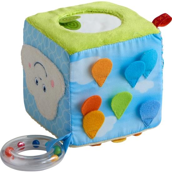 Jucarie bebelusi, Cub textil Curcubeu, Haba