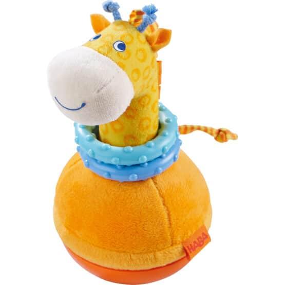 Jucărie bebeluși de pluș, Roly Poly Girafa, Haba
