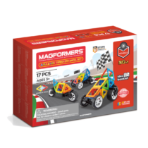 Set magnetic de construit Magformers Vehicule, 17 piese
