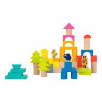 Cuburi din lemn de construit cu figurine, Small Foot