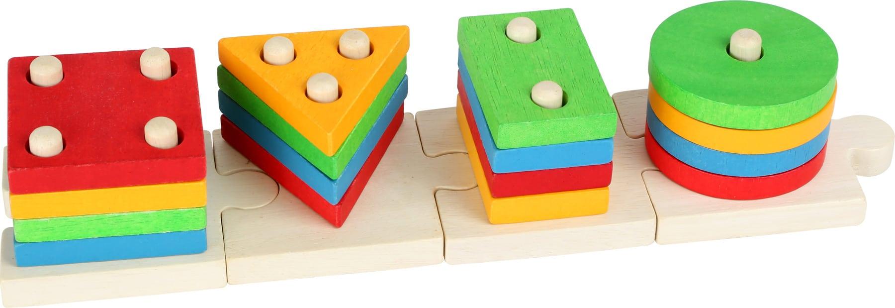 Joc de potrivire cu forme, puzzle, Small Foot detalii