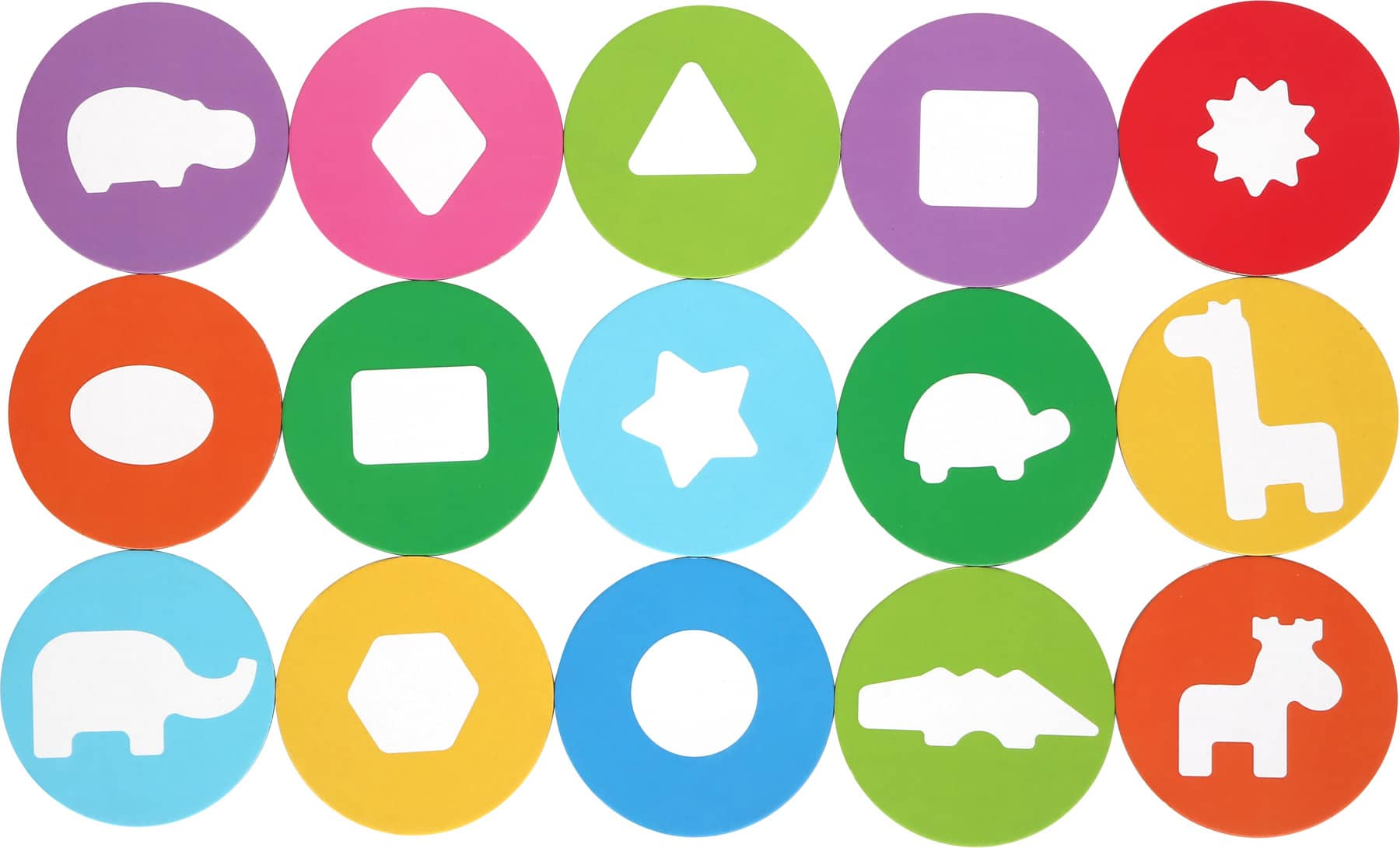 Joc de recunoaștere a formelor, Cutia cu animale cartonase