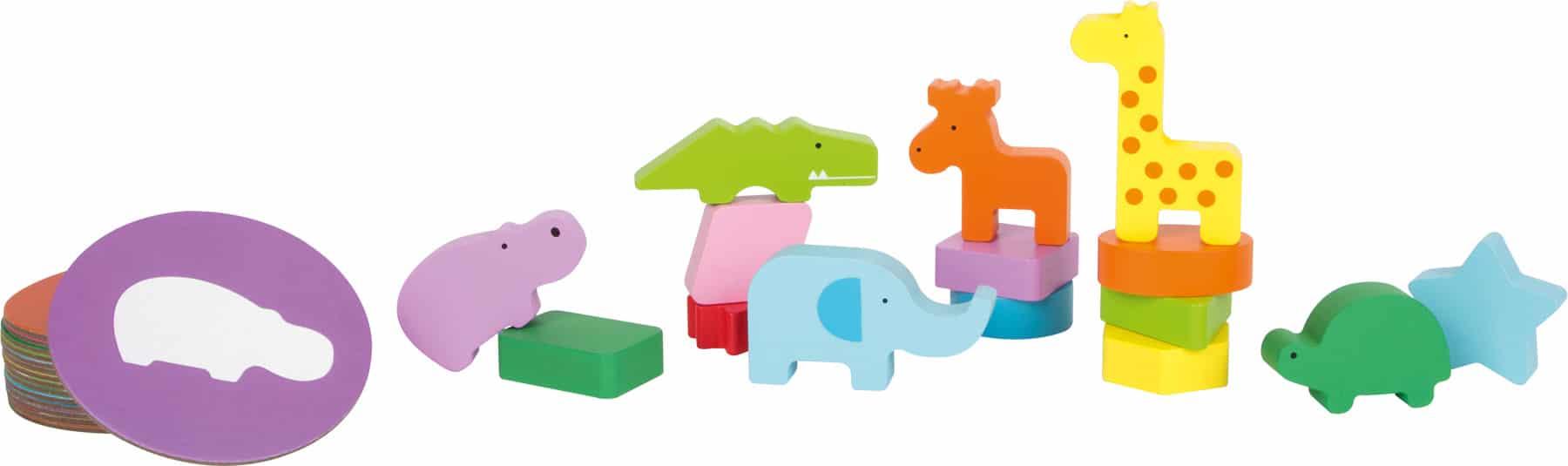 Joc de recunoaștere a formelor, Cutia cu animale piese