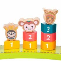 Joc educativ din lemn de potrivire cu numere Jungle, Small Foot