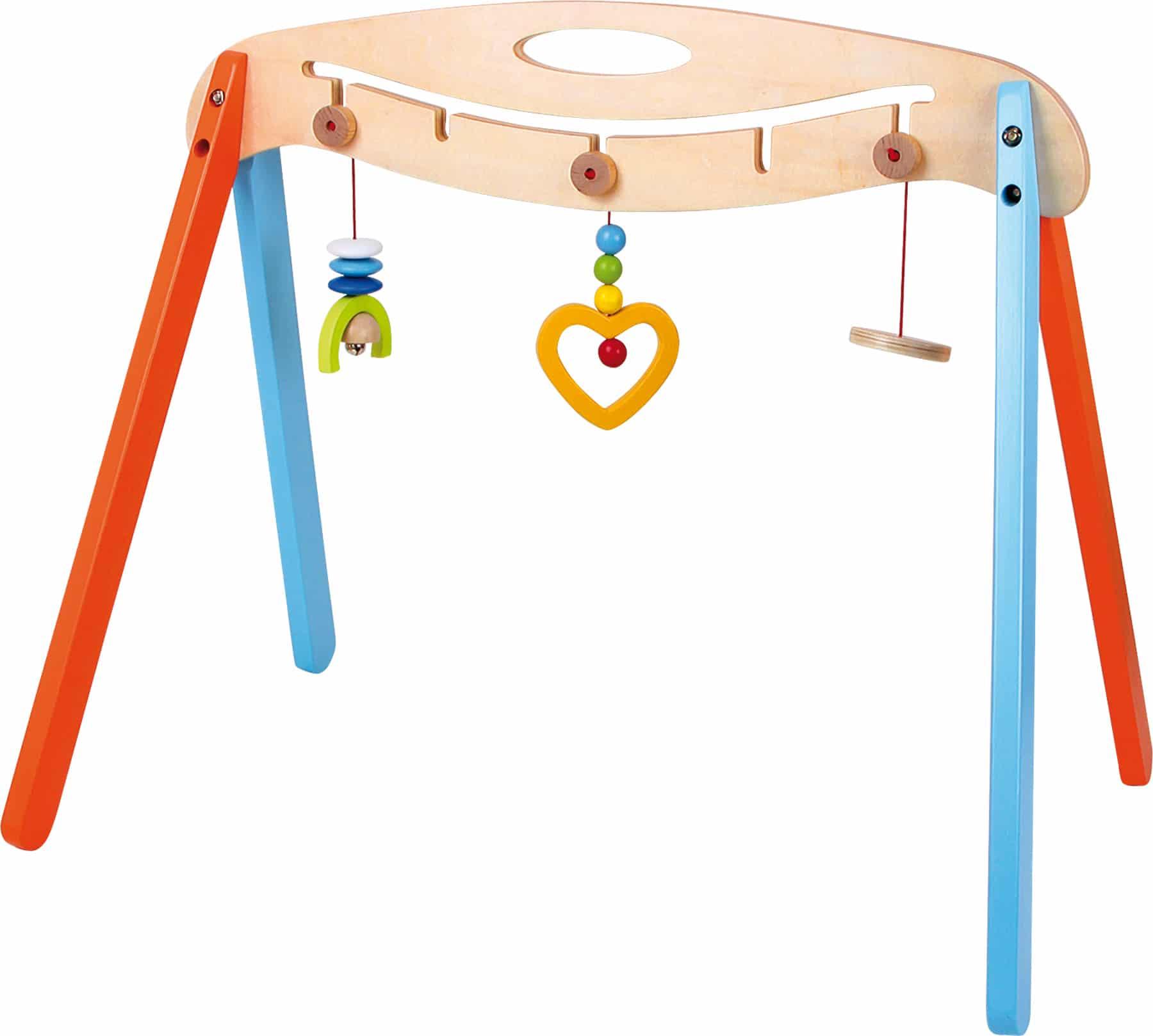 Suport cu jucării bebeluși, din lemn
