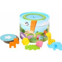 Joc de recunoaștere a formelor, Cutia cu animale