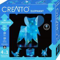 Creatto - Elefant, Figurina 3D de construit, cu leduri, Kosmos