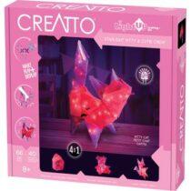 Creatto - Pisică, Figurina 3D de construit, cu leduri, Kosmos