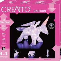 Creatto - Unicorn, Figurina 3D de construit, cu leduri, Kosmos