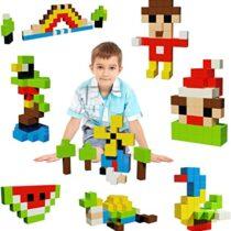 PicassoTiles, Set cuburi de puzzle magnetice 108 piese