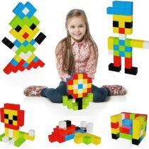 PicassoTiles Set cuburi de puzzle magnetice 60 piese