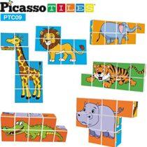 PicassoTiles, Set de cuburi magnetice puzzle Magic 9 piese