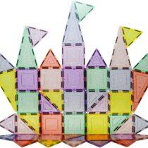 PicassoTiles, Set magnetic de construit 48 de piese cu sclipici. Mai bun decatMagnaTIles