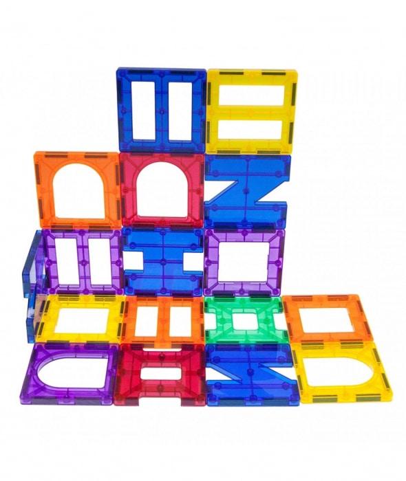PicassoTiles, Set magnetic de construit de 42 de piese, 6 forme diferite