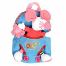 Rucsac copii, cu jucărie senzorială șoricel, Dolce