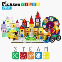 Set Magnetic de construit PicassoTiles 300 de piese