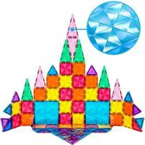 Set magnetic de construit PicassoTiles Mini Diamond 80 piese