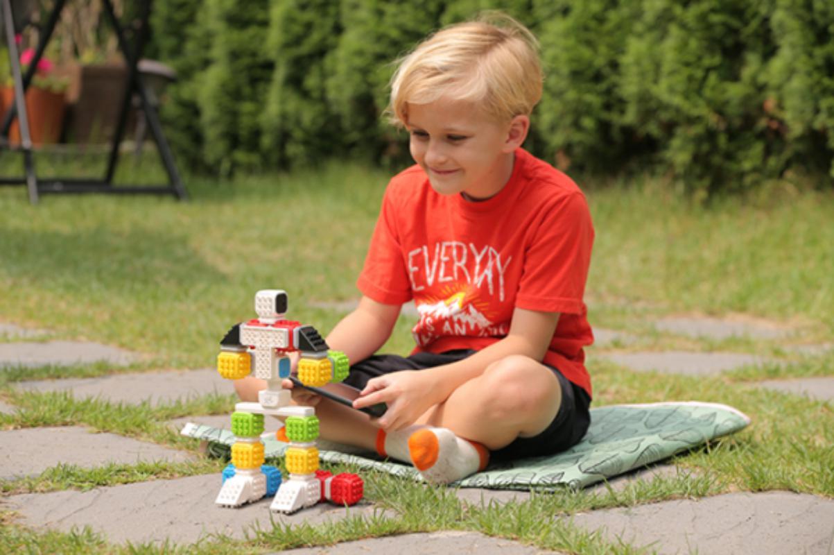 Cubroid Wireless, kit robotic programabil, jucărie STEAM copil cu robot
