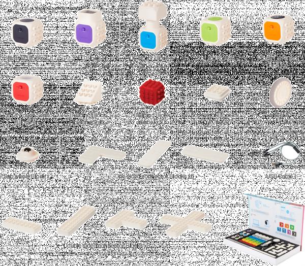Cubroid Wireless, kit robotic programabil, jucărie STEAM piese