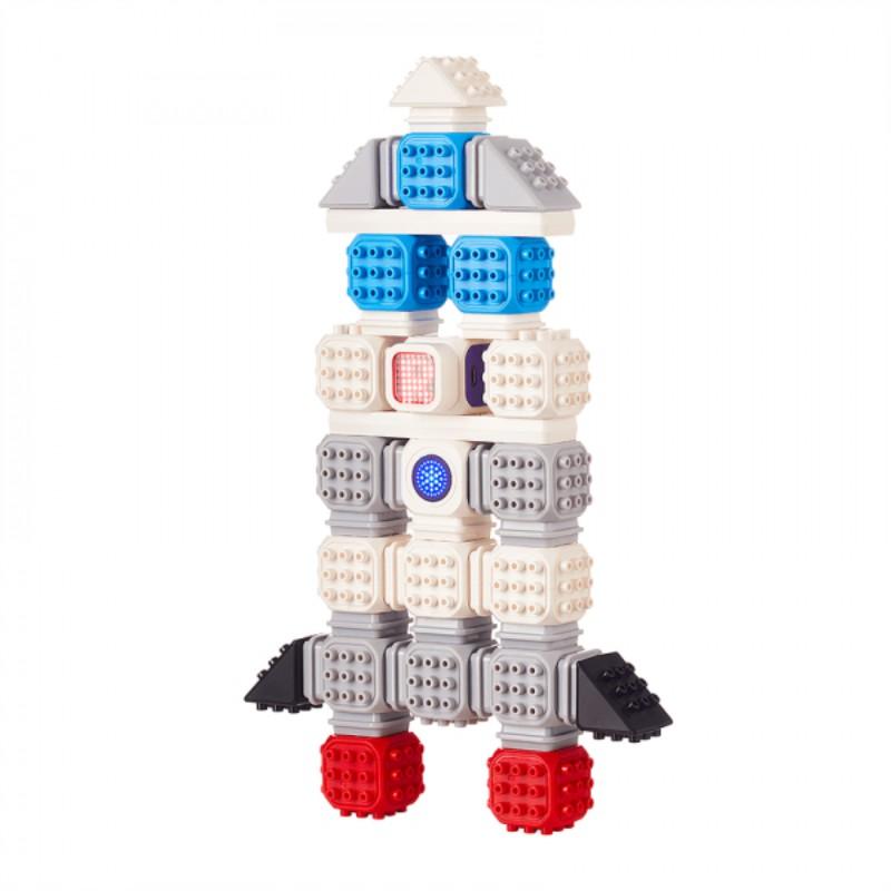 Cubroid Wireless, kit robotic programabil, jucărie STEAM racheta