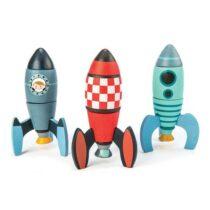 Jucării din lemn, Set 3 rachete de construit,Tender Leaf